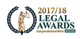 Corporate LiveWire award-2016 - 2018 Immigration Law Team of the Year - Canada
