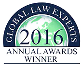 Global Law Experts Recommended Firm 2016