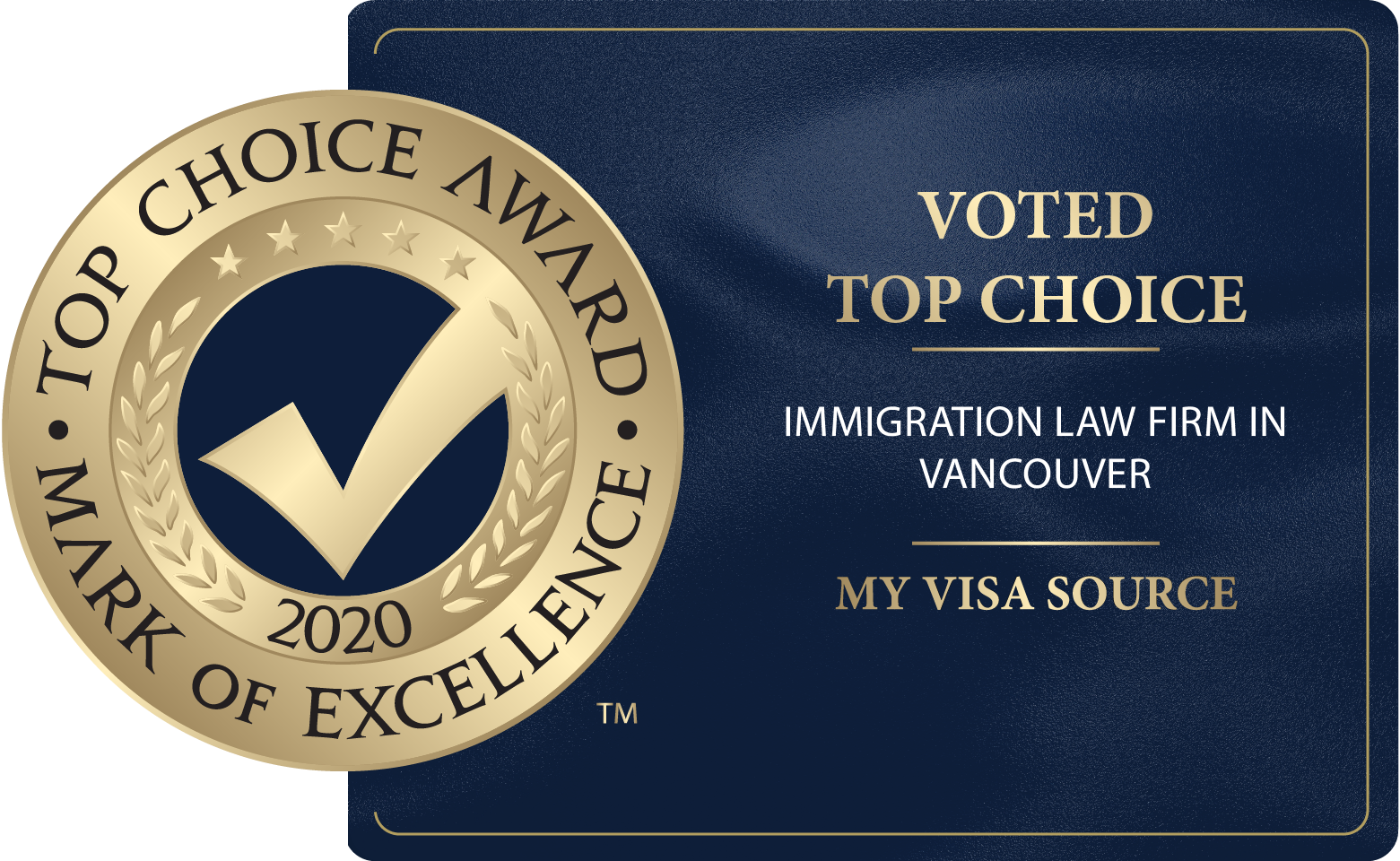 >2017 - 2020 - Top Choice Award - Top Immigration Law Services
